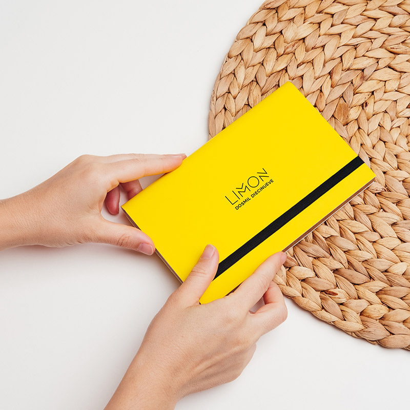 Carpeta para guardar pendrive USB en color amarillo